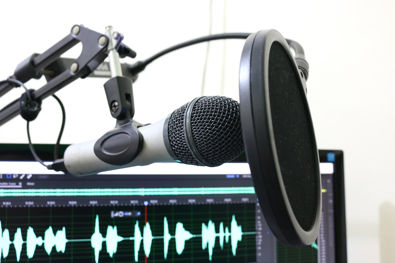 microphone, podcast, pop filter-2170045
